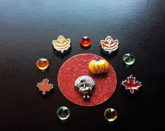 Thanksgiving Floating Charm Set for Floating Lockets-11 Pieces-Gift Idea