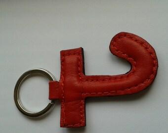 Handmade Leather Letter Keyrings