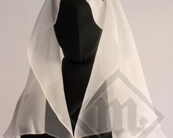 Transparent Silk Medieval Veil D