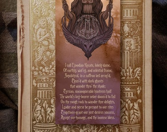 Goddess bookmark - Hecate