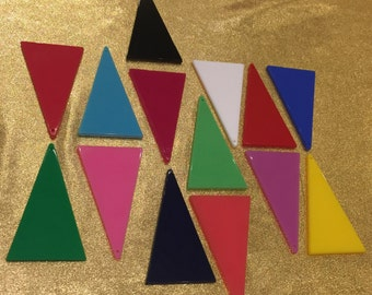 DIY 80s Solid Triangle Shape Form