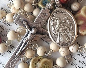 St Rosalia Rosary Confirmation Rosary Catholic Rosaries Confirmation Gift Saint Rosalia Rosary