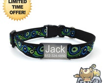 "Jacksepticeye Personalized Dog Collar with FREE Engraving 304 Stainless Steel Tag 3/4"" width Adjustable Youtube game Pewdiepie dog collar!"