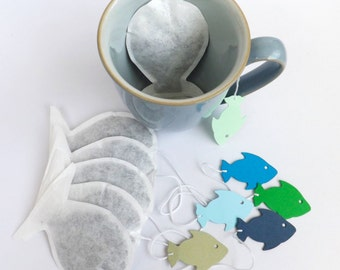 Cat shaped tea bags cat lovers unusual cat by contoursalbion for Fish tea bags
