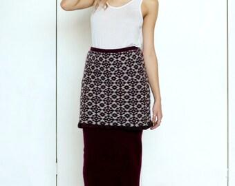 Two Layered Jacquard Skirt