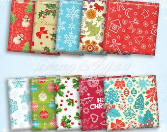 "1x1 inch Square Images printable Christmas Patterns digital collage sheet 1"" 1.5"", 7/8"" Scrabble tiles pendant download cabochon charm print"