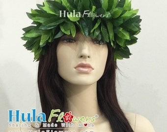 Silk Maile Haku Headband For Hawaiian, Polynesian, for Hula Dancer Accessories, Wedding Party, Beach Accessories