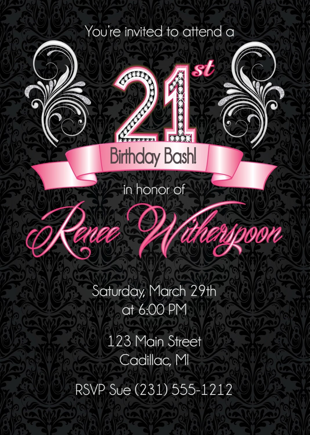 21St Invitations Templates is best invitation example