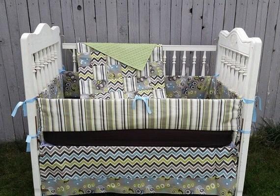 Baby Boy Monster Truck Crib Bedding