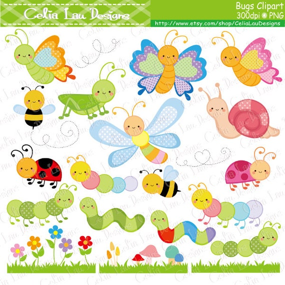 Bugs Clipart Cute Bugs Clipart Insect clip art Bee