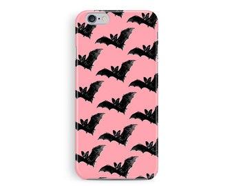 Halloween Accessories, Halloween phone Case, Bat pattern, Pink Phone cases, Gift Ideas, Fall phone casesSoft Goth, Vampire Phone case,