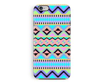 Aztec Phone Case, bumper iPhone case, Geometric iPhone 5 Case, Ethnic Phone Case, Protective iPhone 6 Case, iPhone 5 protective cover, neon