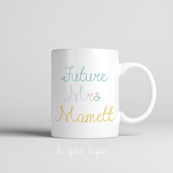Coffee Mug Future Mrs Personalized Mug Engagement Gift Engaged Mug ...