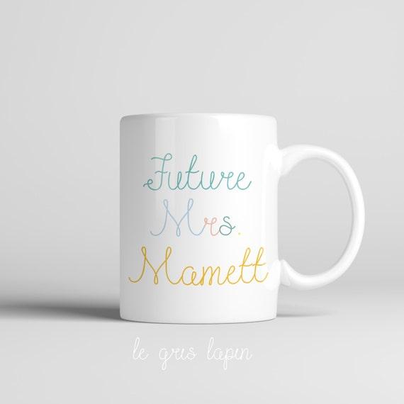 Personalized Coffee Mugs Wedding Gift : Coffee Mug Future Mrs Personalized Mug Engagement Gift Engaged Mug ...
