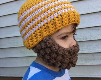 Crocheted Beard Hat