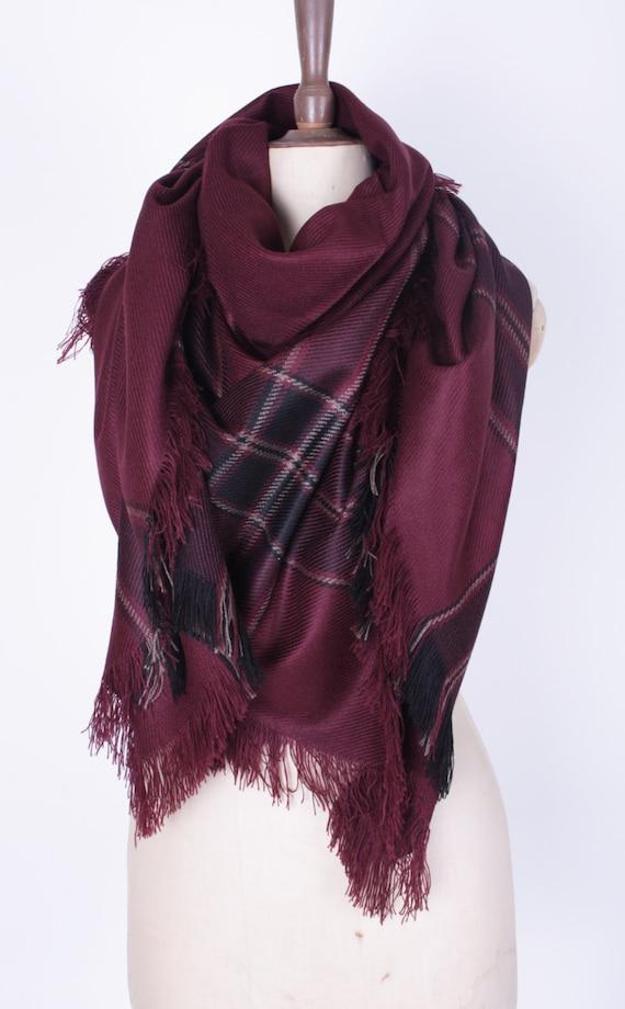 blanket scarf sale plaid blanket scarf burgundy tartan scarf