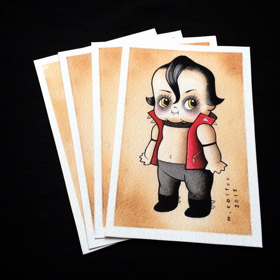 Is There Anything The Devil Can T Rock Lucifer: Devilock Misfits Danzig Kewpie Tattoo Flash Print By Michelle