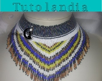 Pattern Indian Native American style necklace( Italian/french)
