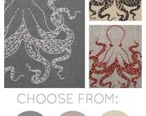 Octopus embroidery kit, DIY embroidery, octopus pattern, modern hand embroidery pattern, I Heart Stitch Art, DIY needlecraft kit
