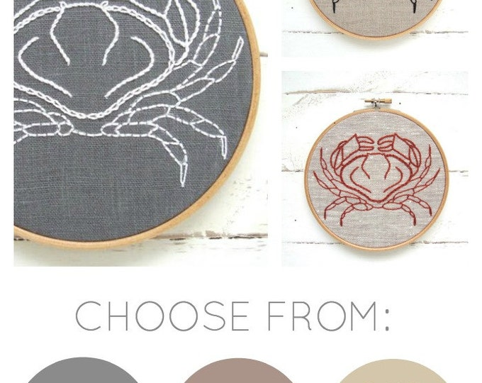 Crab Embroidery Kit {basic}