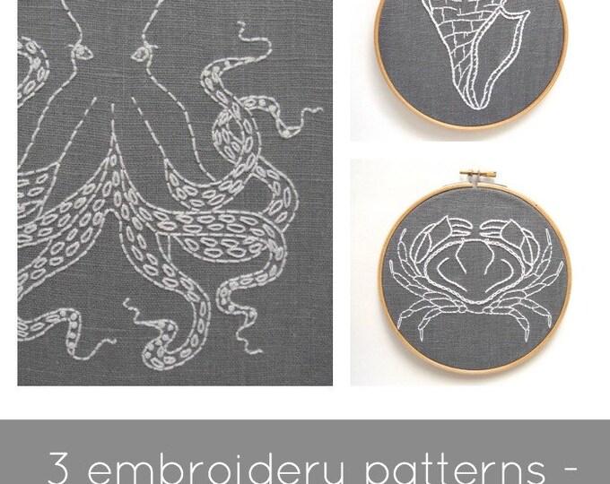Embroidery Pattern Set - Digital Download