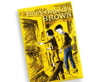 Personalized Book Lover Gift. Book Clutch Purse - Encyclopedia Brown, Boy Detective by Donald J. Sobol. Custom Book Bag
