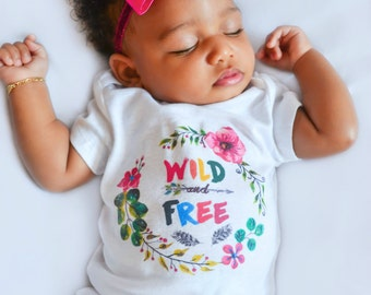 Newborn Girl Take Home Outfit Wild and Free Boho Outfit Baby Girl Boho Oufit Baby Boho Outfit Wild and Free OnePiece Coming Home Outfit