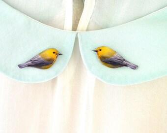 yellow bird jewelry , gold finch , bird jewelry , yellow pin , bird collar clip , bird collar pin , bird brooch , yellow bird brooch ,
