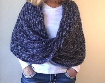 Black Forest Wrap -- Loom Knit Pattern