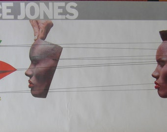 Original 1980s Grace Jones Promotional Poster