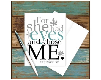 Card for Bride, Card for Wife, Card for Girlfriend, Anniversary Card, Romantic Card, Valentine's Day Card, Card from Groom, Card for Her