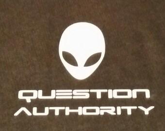 "Alien Vinyl Decal ""Question Authority"""