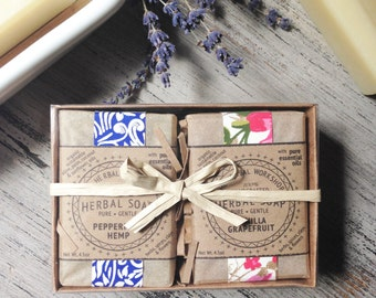 Bath Gift Set - 2 Bars of Handcrafted Soap