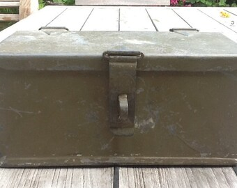 Painted iron box