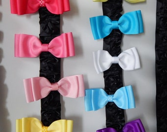 Double Bow- Multiple Colors
