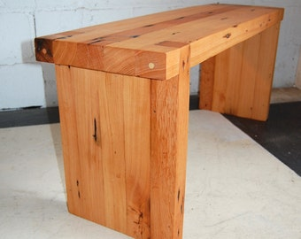 100 Year Old Pine Wood Mortise and Tenon Bench