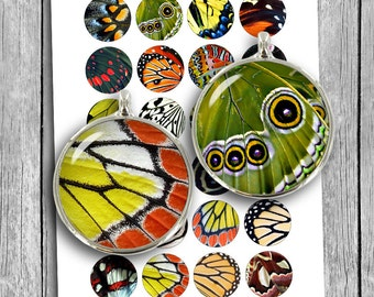 Butterfly Wings Printable collage sheet for Cabochons, Bottle caps 12mm 14mm 16mm 18mm Digital Collage Sheet - Instant Download