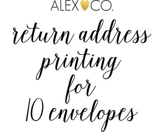 Return Address Printing on 10 Envelopes