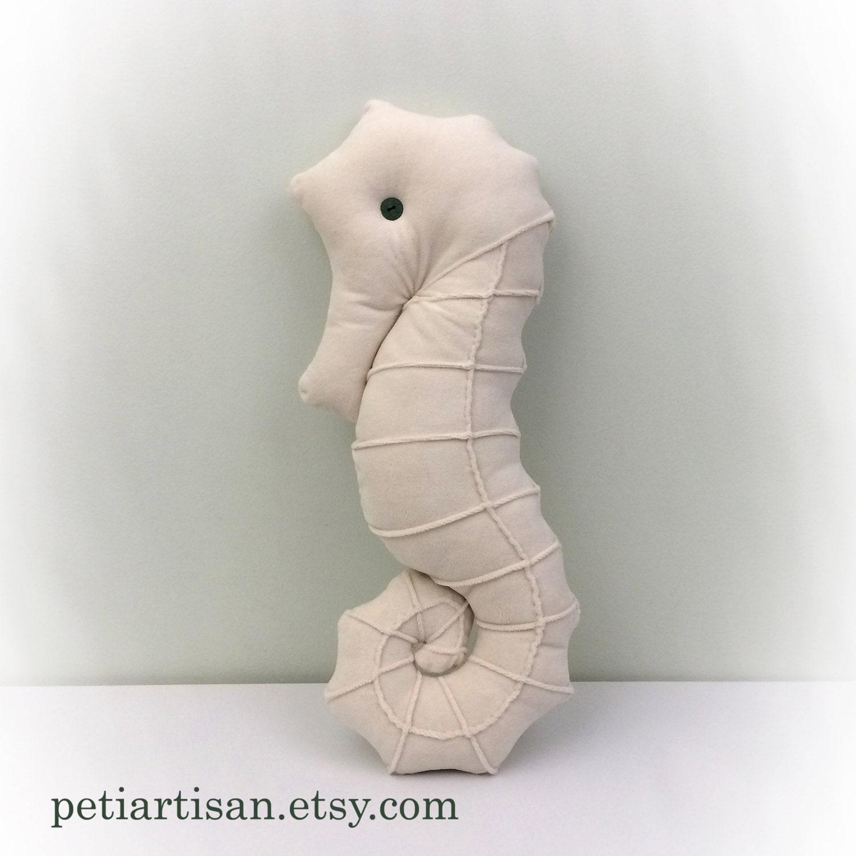 Seahorse Shaped Pillow Toy Pillow 3D Pillow Nautical Decor