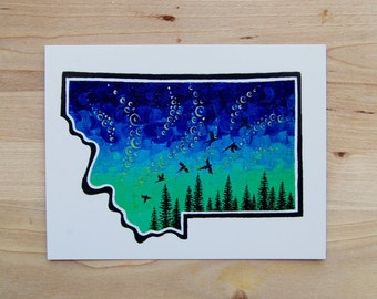 Night Sky Postcard - 4 Pack