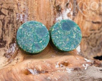 Qinghai Jade Stone Plugs - Double Flared - 6mm - 8mm - 10mm - 11mm - 12.7mm - 14mm - 16mm - 19mm - 22mm - 25mm - Organic
