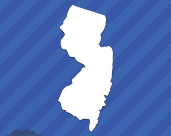 New Jersey NJ State Outline Vinyl Decal Sticker