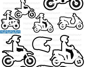 Motorcycles and ATV's Monogram Outline - Cutting Files Svg Png Jpg Eps Dxf Digital Graphic Design Instant Download Commercial Use (00784c)