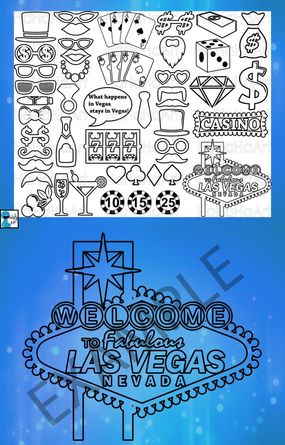 Las Vegas Monogram Outline Cutting Files Svg Png Jpg Eps Dxf