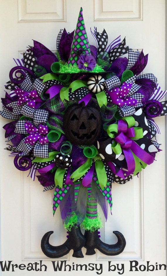 tulle halloween wreath blog