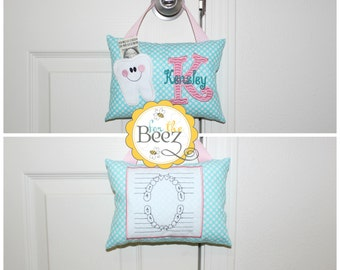 Girls Tooth Fairy Pillow - Personalized Tooth Fairy Pillow - Girls Tooth Fairy Pillow - Tooth Fairy Pillow for Door