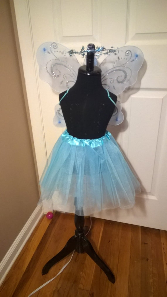 Items similar to SET Light Blue Fairy Wings and Tutu with ...
