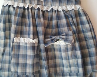 Plaid Girls' Dress and Bow