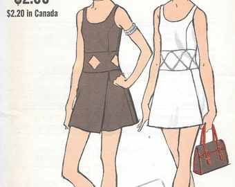 Vintage 1970s Vogue Sewing Pattern 7826 - Misses' One-Piece Dress and Shorts size 10 bust 32 1/2 uncut
