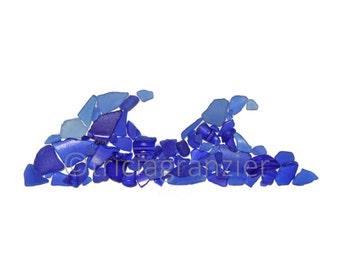 Print, Blue Ocean Wave, Sea Glass Art